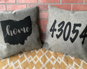 Ohio/ZipCode Pillow Covers