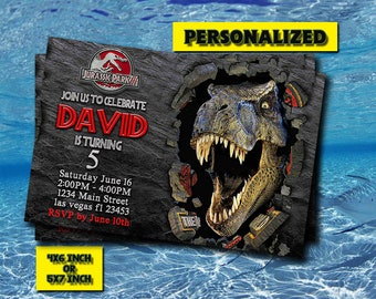 Jurassic World Invitation,Jurassic World Birthday,Jurassic World Birthday Invitation,Jurassic World Party,Jurassic World Printable