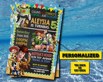 Toy Story Invitation,Toy Story Birthday Invitation,Toy Story Birthday,Toy Story Party,Toy Story Printable,Personalized,Digital Download