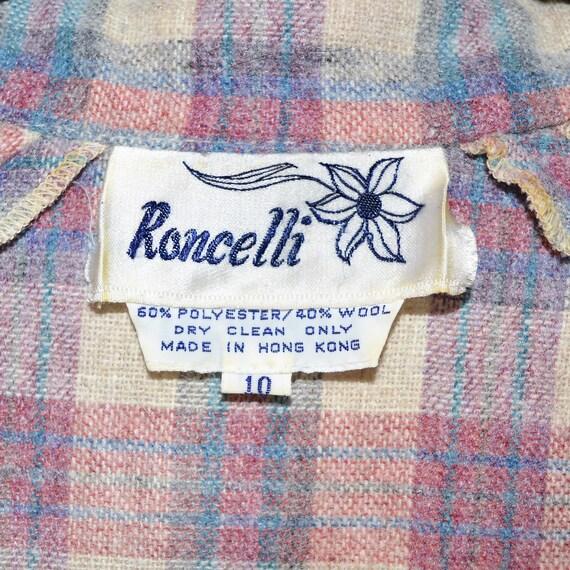 Vintage 70s 80s Roncelli Wool Blend Flannel Maxi … - image 5