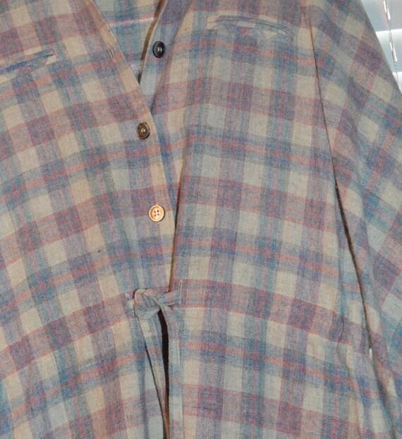 Vintage 70s 80s Roncelli Wool Blend Flannel Maxi … - image 4