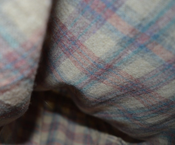 Vintage 70s 80s Roncelli Wool Blend Flannel Maxi … - image 7