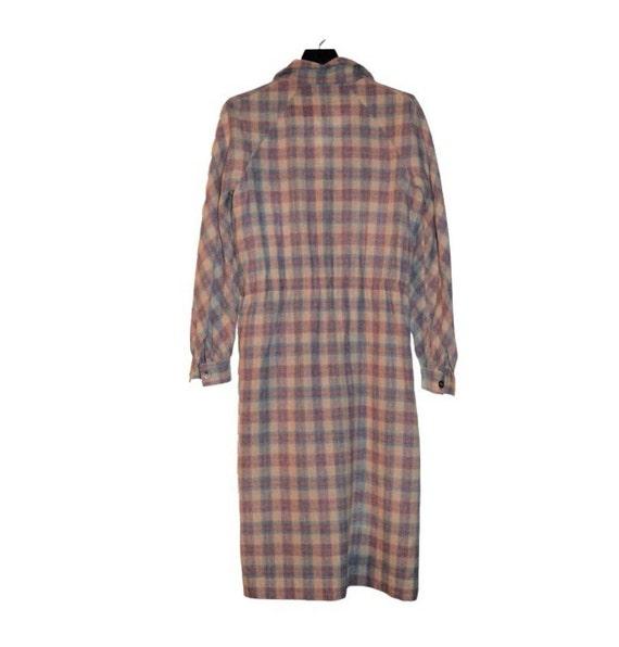 Vintage 70s 80s Roncelli Wool Blend Flannel Maxi … - image 3