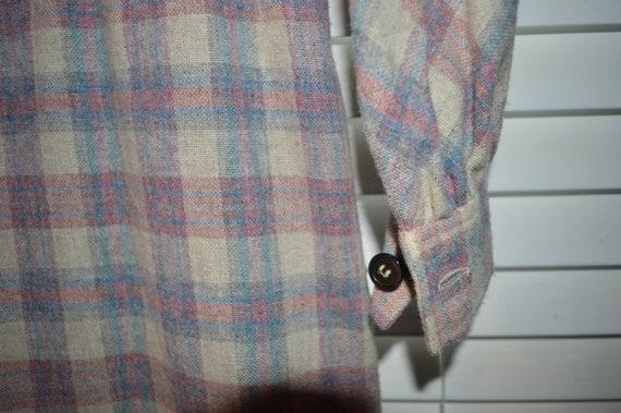 Vintage 70s 80s Roncelli Wool Blend Flannel Maxi … - image 8