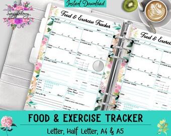 daily food diary etsy
