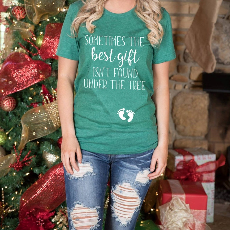 faf28aae9b87c Christmas Pregnancy Announcement Shirt Best Gift Husband | Etsy