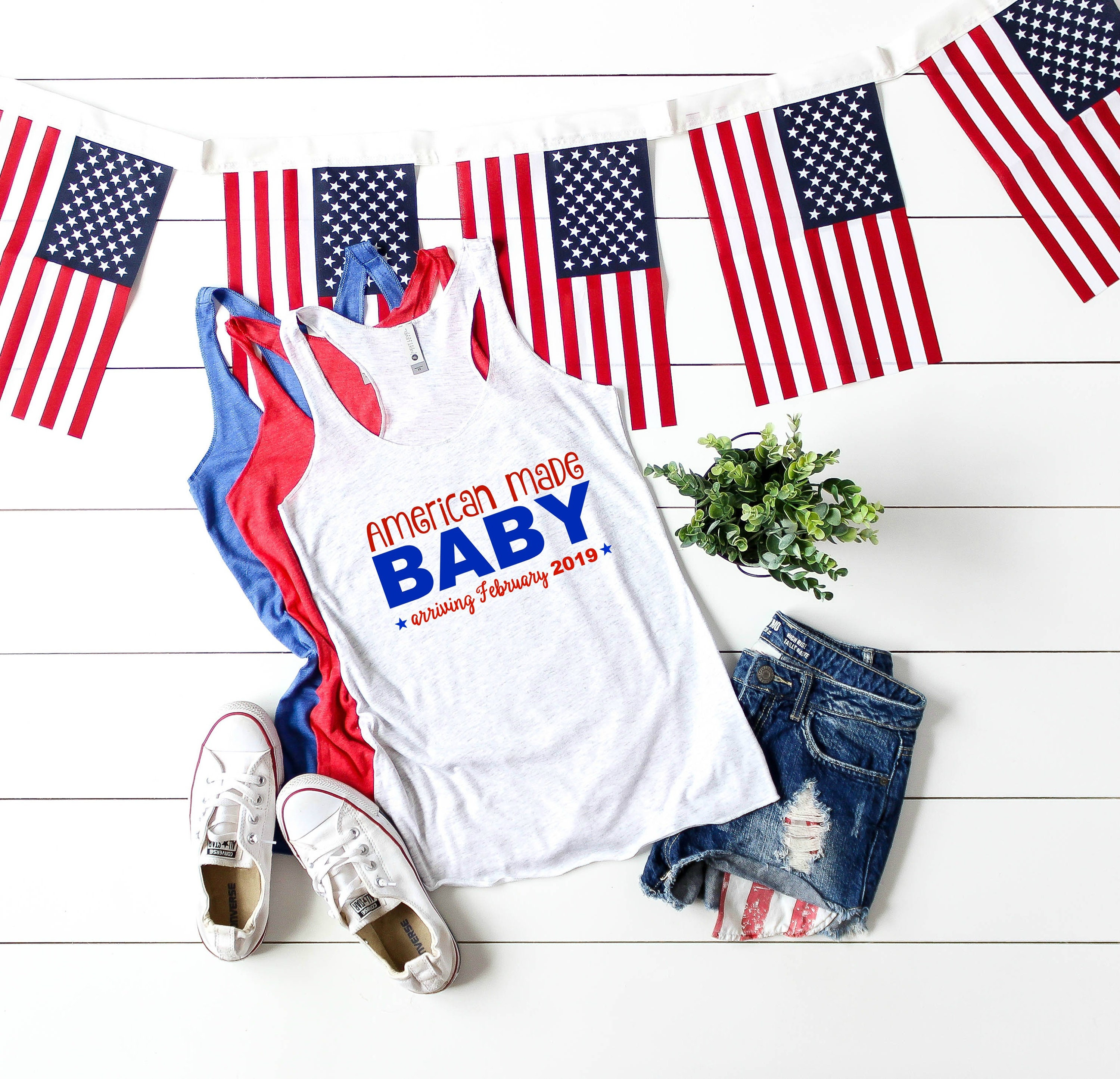 98a5155213ffd American Made Baby Announcement 4th of July Pregnancy Reveal