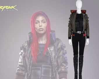 1ec183b09b Cyberpunk Women s Cosplay Costume Deluxe Top Quality Full Set Outfit  Customize-able