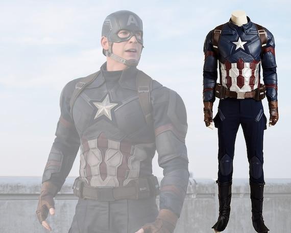 fa9cb99cb2d Captain America Civil War Cosplay Costume Deluxe Top Quality