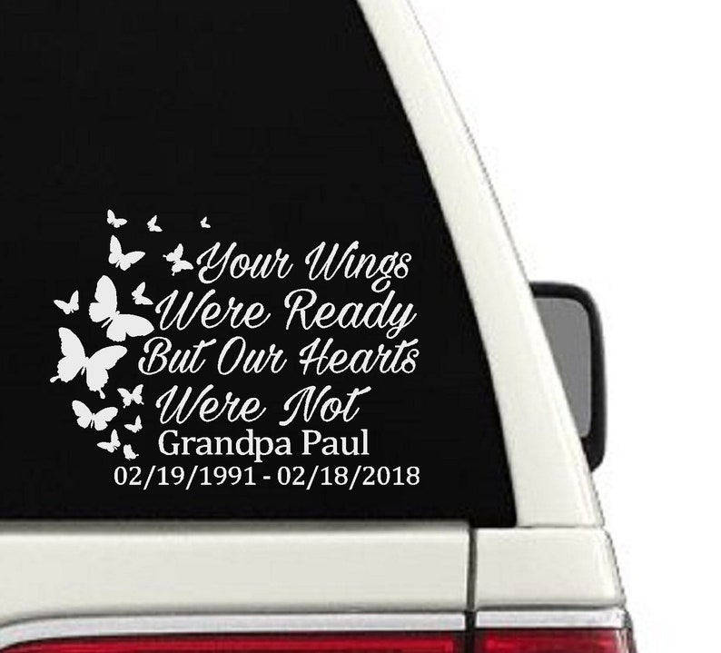 In Loving Memory Car Decals >> In Loving Memory Car Decal Window Memorial Sticker Decal Etsy