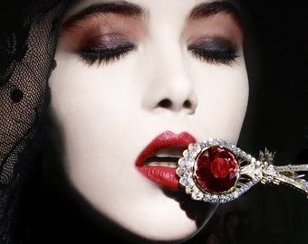 French Vogue Ruby Beauty (Numbered Limited Edition Poster)