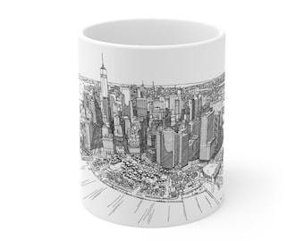 City Skyline Mug Etsy