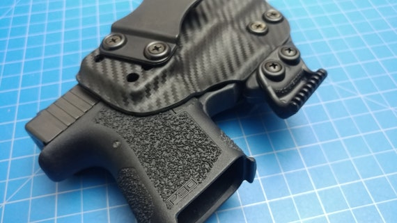 polymer 80 pf940sc iwb kydex holster with holster claw black carbon fiber