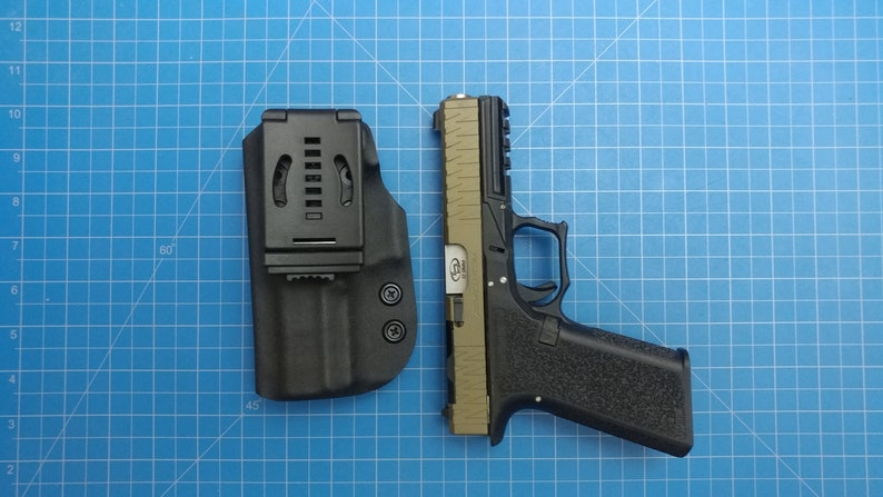 Polymer 80 pf940v2 owb right hand carry kydex holster with combat loop black