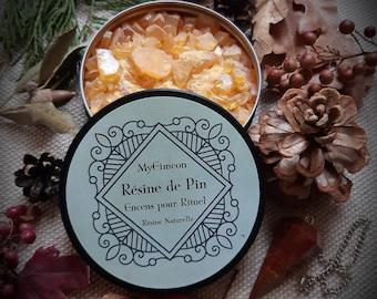 NATURAL resin PIN for incense, purifying incense, natural incense for ritual.
