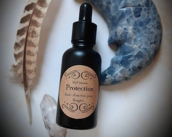 ELIXIR PROTECTION natural magic anointing oil for candle. Elixir for esoteric ritual, witchcraft, wicca.