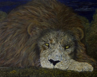 Monarch's Night, the lion at rest