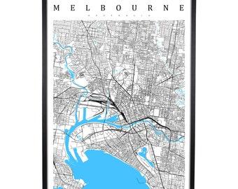 Melbourne - Australia Map