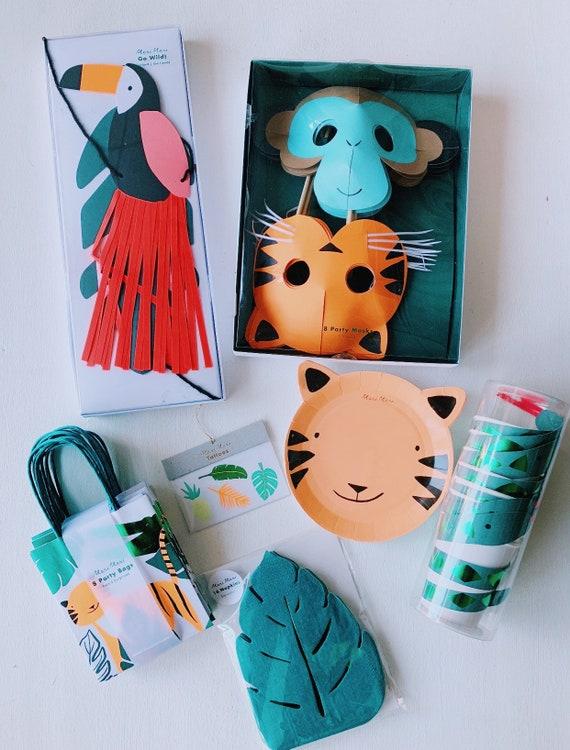 Wild One Party | Wild Party | Animal Go Wild Party | Safari Party | Animal  Masks | Animal Paper Plates | Safari Animal Party | Meri Meri