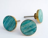 Turquoise Unique Cabinet Pull, Decorative Knobs, Dresser Knobs, Drawer Pulls, Knobs and Pulls, Pull Knob, Coastal, Gold Sand Dunes Knob Teal