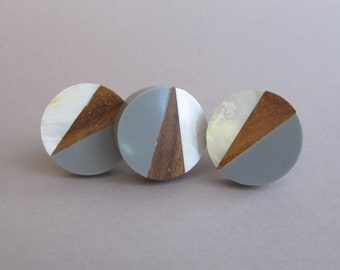 Large Geometric Wooden Kobs,Modern Knobs,Geometric Knobs,Drawer Knobs,Cabinet Knobs,Pomelli in legno