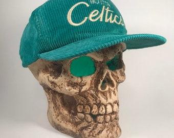 timeless design e0a03 248ff Boston Celtics Vintage Hat Corduroy Script Sports Specialties green  adjustable rare