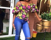 Amany African print top