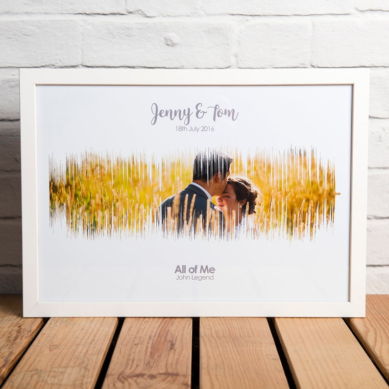 PERSONALISED First Dance Sound Wave Photo Print First Wedding image 8