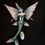 Flying Fish Mermaid wall hanging  2