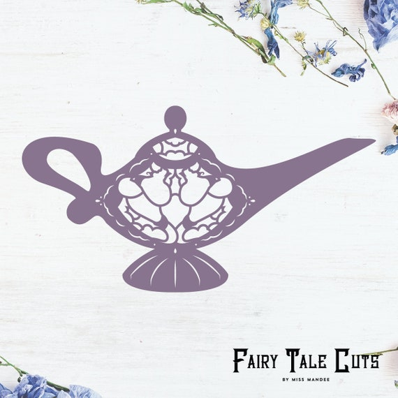 Aladdin Inspired Magic Lamp File Design Digital Download Svg Vector Cricut Silhouette Clip Art