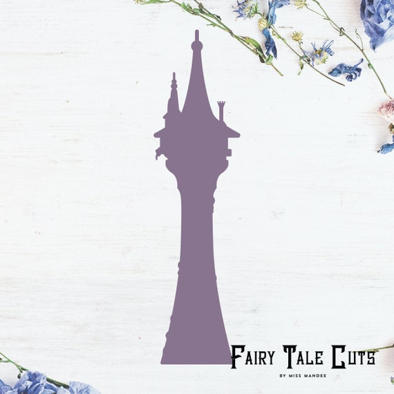 Rapunzel S Tower Silhouette Tangled Inspired File Design Etsy