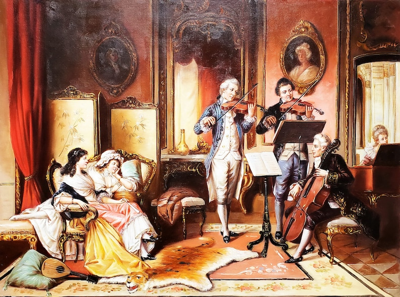 #2 36x48-100/% Hand Painted Oil Painting on Canvas Classic Music Concert