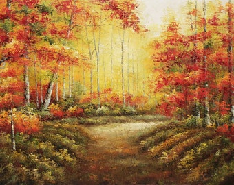 Forest and Trees,  36x48  100% Hand Painted Oil Painting on Canvas