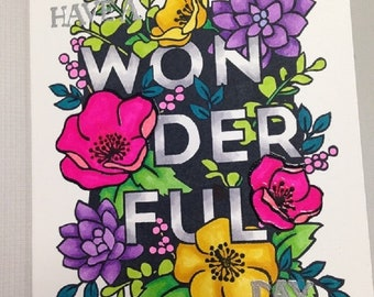 Homemade Card - Have a Wonderful Day!