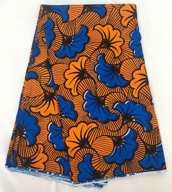 Tissu Africain Uniwax Fleurs De Mariage Tissu Wax Pagne Etsy