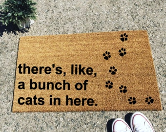 Bunch of Cats Doormat Door Mat Rug Personalized Pet Animal Cat Fathers Day Gift Dad