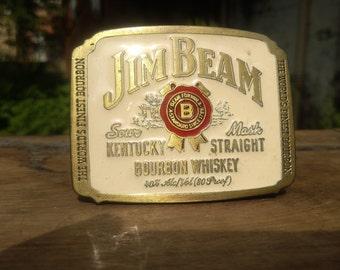 Vintage 1989 Jim Beam Bourbon  Whiskey Belt Buckle