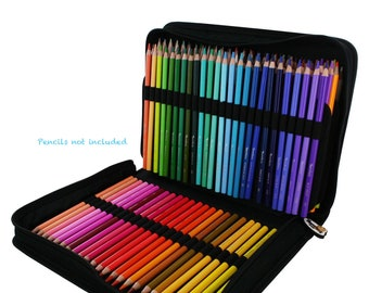 Thorntonu0027s Art Supply Colored Pencil Canvas Zippered Storage Case With 150  Pencil Slots
