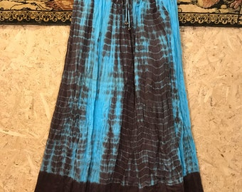 Vintage 1970s India tied-dyed cotton skirt