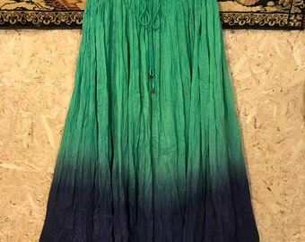 Vintage 1980s India tied-dyed cotton skirt