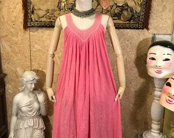 Vintage 1970 India gauze dress