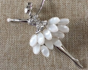 Ballerina Brooch, Silver tone