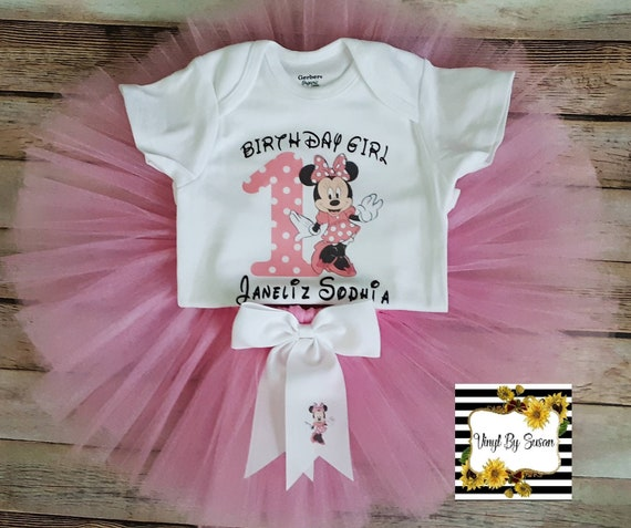 """NEW /""""Lilo and Stitch/"""" Personalized White or Pink T-Shirt and Pink Tutu Set"""