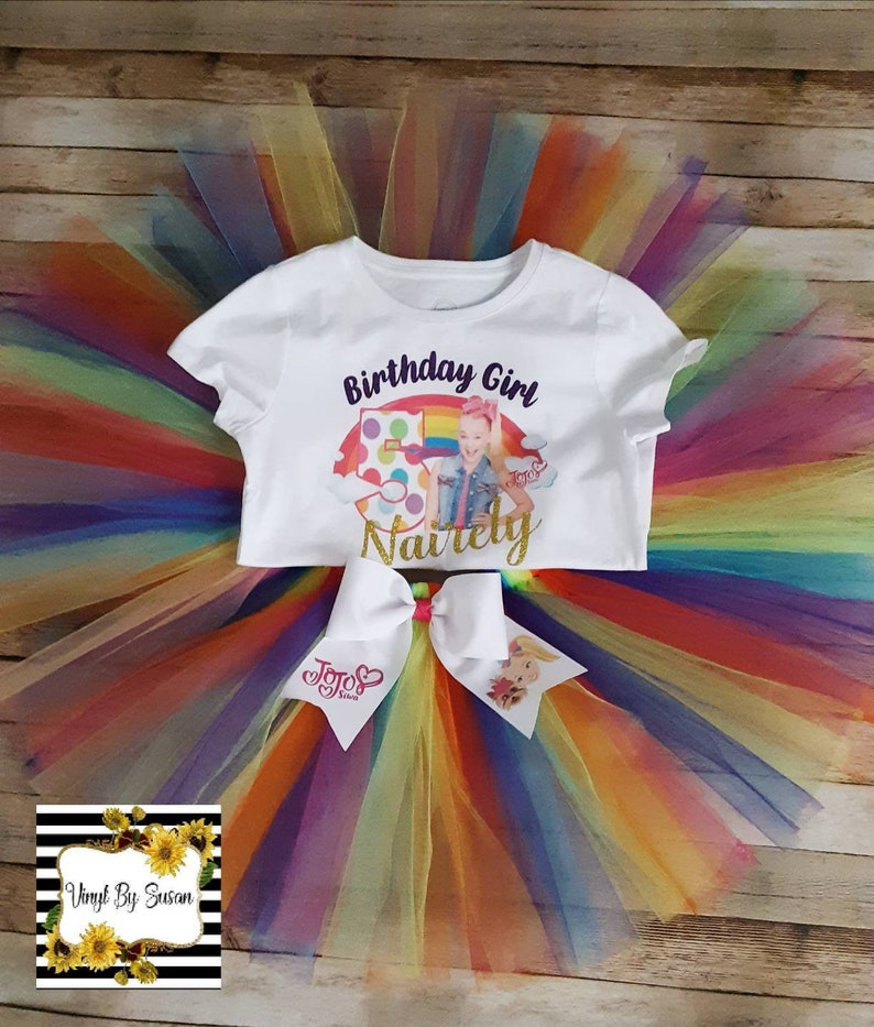 Personalized Birthday Set JoJo Inspired Birthday Set JoJo Themed Tshirt /& Tutu Set JoJo Birthday Set