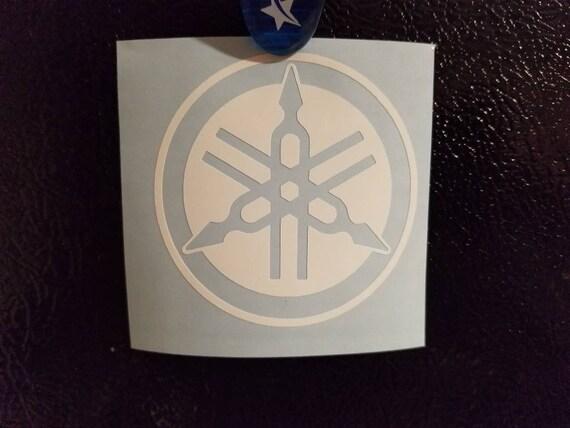 Yamaha Stimmgabel Logo Vinyl Aufkleber Umgekehrt Atv Motorrad Kostenlos Usa Versand