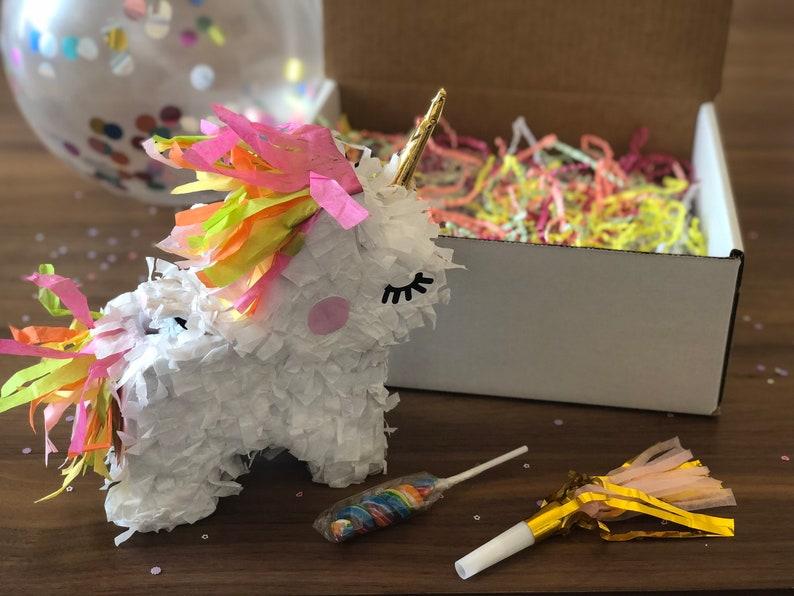 Unicorn Mini Piñata Party in a Box  Friend Gift Box  image 0