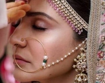 Indian body jewellery ethnic jewellery Nose Ring,boho nose stud Indian traditional Nose pin Indian Nath Indian ethnic nose pin