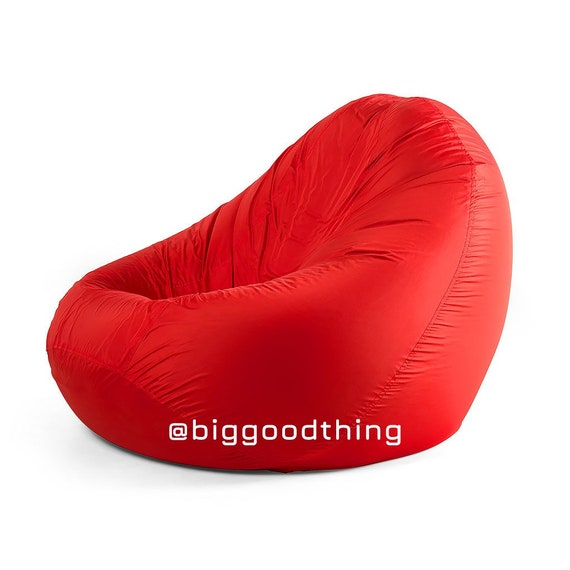 Incredible Bean Bag Chair With A Filler Outdoor Waterproof Red Camellatalisay Diy Chair Ideas Camellatalisaycom