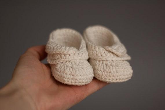 Unisex Elfenbein häkeln Baby Booties Bio-Baby-Schuhe für | Etsy