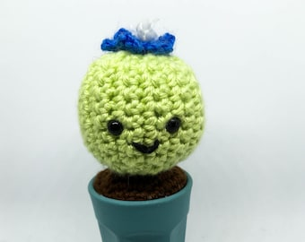 Crocheted Cactus - Silver Ball